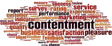 Contentment word cloud concept. Vector illustration