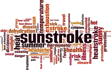 Sunstroke word cloud concept. Vector illustration Stock Vector - 97270058