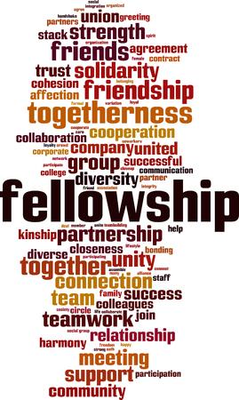 Fellowship word cloud concept. Vector illustration