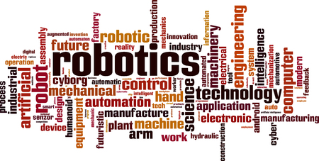 Robotics Word Cloud Concept Vector Illustration Royalty Free