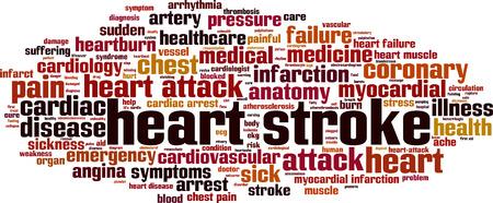 Heart stroke word cloud concept. Vector illustration