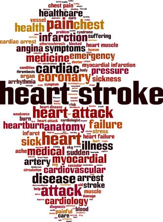Heart stroke word cloud concept. Vector illustration Illustration