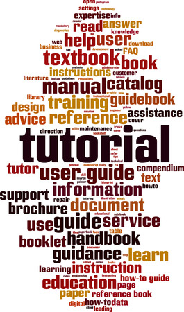 Tutorial word cloud concept. Vector illustration Ilustração