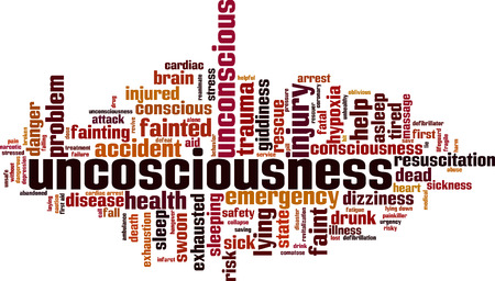 Unconsciousness word cloud concept vector illustration.