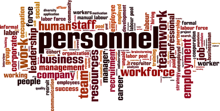 Personnel word cloud concept. Vector illustration