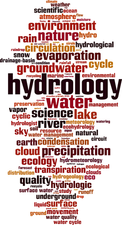 Hydrology word cloud concept vector illustration.
