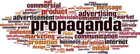 Propaganda word cloud concept. Vector illustration Illustration