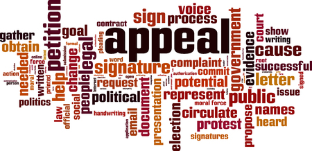 Appeal word cloud concept vector illustration. Vectores
