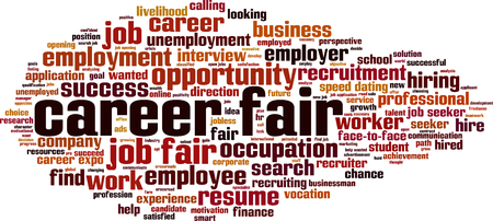 Career fair word cloud concept. Vector illustration Illustration