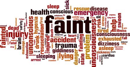 Faint word cloud concept. Vector illustration