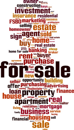 For sale word cloud concept Illustration
