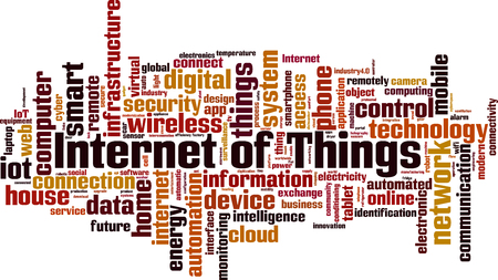 Internet of Things word cloud concept