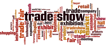 Trade show word cloud concept