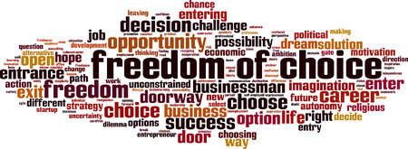 Freedom of choice word cloud concept. Vector illustration