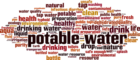 Potable water word cloud concept. Vector illustration Banco de Imagens - 100808888