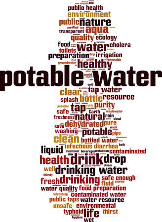 Potable water word cloud concept. Vector illustration
