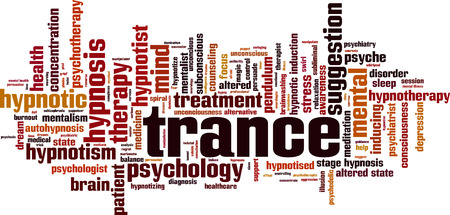 Trance word cloud concept. Vector illustration Stockfoto - 100808893