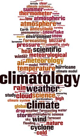 Climatology word cloud concept. Vector illustration
