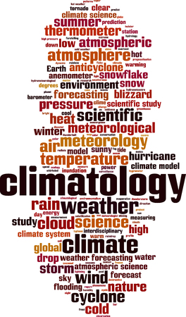 Climatology word cloud concept. Vector illustration