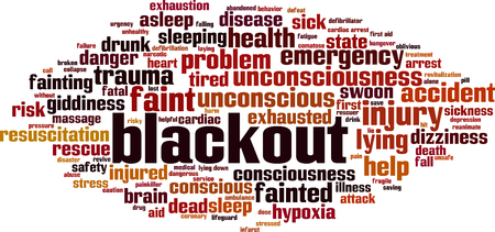 Blackput  word cloud concept. Vector illustration Vettoriali