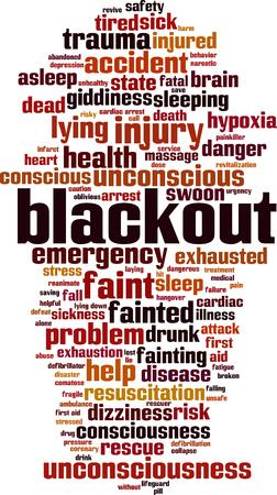 Blackput  word cloud concept. Vector illustration Illustration