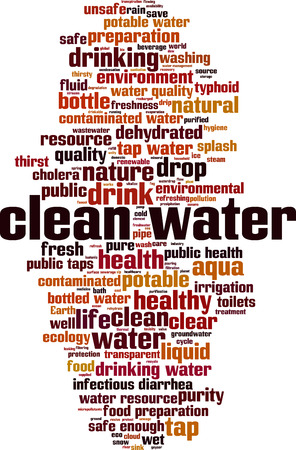 Clean water word cloud concept. Vector illustration