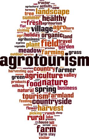 Agrotourism  word cloud concept. Vector illustration