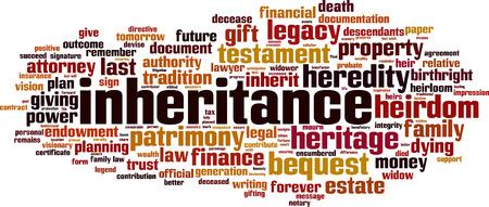 Inheritance word cloud concept. Vector illustration