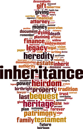 Inheritance word cloud concept. Vector illustration