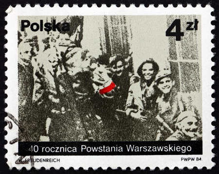 POLAND - CIRCA 1984: a stamp printed in Poland dedicated to Warsaw Uprising, 40th Anniversary, circa 1984