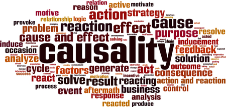 Causality word cloud concept. Vector illustration 스톡 콘텐츠 - 102930291