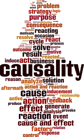 Causality word cloud concept. Vector illustration 스톡 콘텐츠 - 102930292