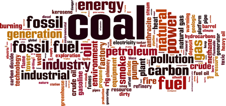 Coal word cloud concept. Vector illustration