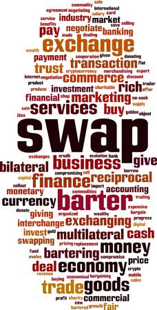 Swap word cloud concept. Vector illustration