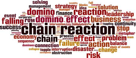 Concepto de nube de word de reacción en cadena. Ilustración vectorial Ilustración de vector