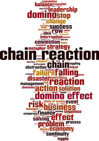 Chain reaction word cloud concept. Vector illustration Illusztráció