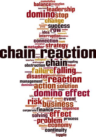 Chain reaction word cloud concept. Vector illustration Illustration
