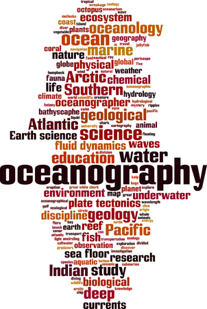 Oceanography word cloud concept. Vector illustration Stock Vector - 111910436