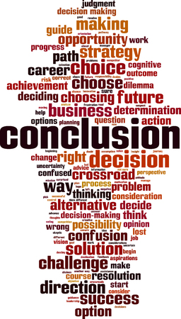 Concept de nuage de mots de conclusion. Illustration vectorielle Vecteurs
