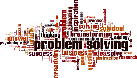 Problem solving word cloud concept. Vector illustration