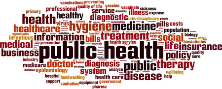 Public health word cloud concept. Vector illustration