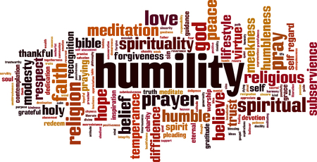 Humility word cloud concept. Vector illustration