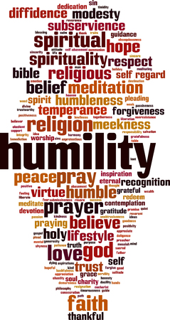 Humility word cloud concept. Vector illustration Illustration