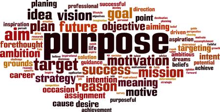 Concepto de nube de word de propósito. Ilustración vectorial Ilustración de vector