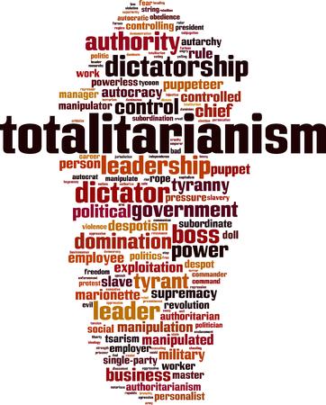 Totalitarianism word cloud concept. Vector illustration Archivio Fotografico - 106899077