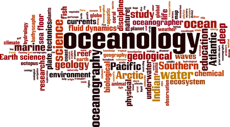Oceanology word cloud concept. Archivio Fotografico - 106938839