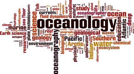 Oceanology word cloud concept.