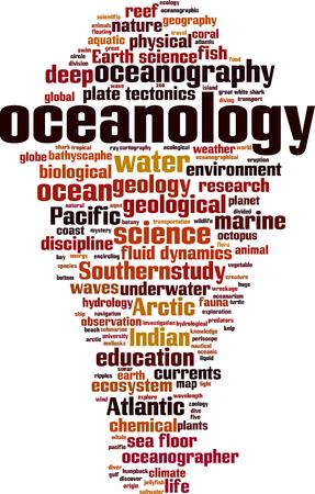 Oceanology word cloud concept. Vector illustration Stock Vector - 111682434