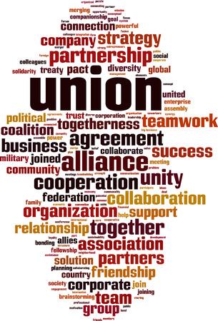 Union word cloud concept. Vector Illustration