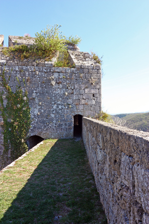 Part of the fortress of Knin, second largest military fortification in the Europe, city of Knin, Croatia